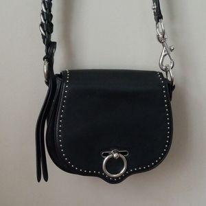 Rebecca Minkoff black leather convertible saddle